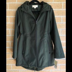 Michael Kors M dark green parker coat with hood